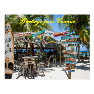 Saludos de la postal de Curaçao