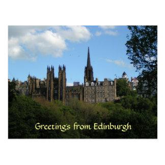 Saludos de la postal de Edimburgo