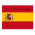 Saludos de la postal de España