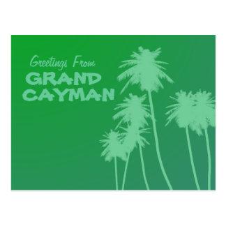 Saludos de la postal de Gran Caimán