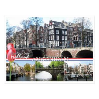 Saludos de la postal de Holanda - de Amsterdam