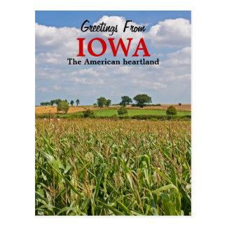 Saludos de la postal de Iowa