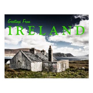 Saludos de la postal de Irlanda