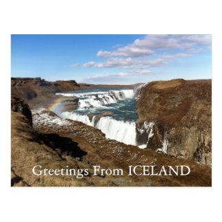 Saludos de la postal de Islandia