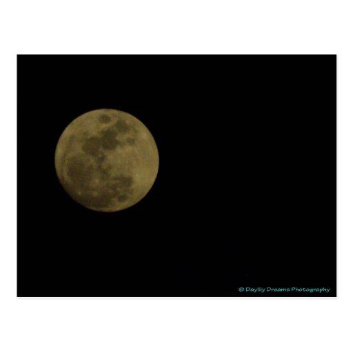 Saludos de la postal de la luna