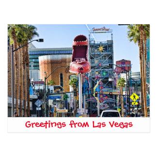 Saludos de la postal de Las Vegas