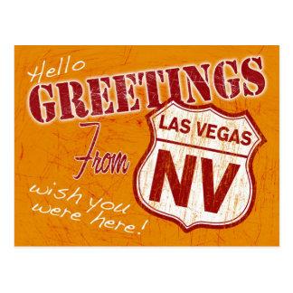 Saludos de la postal de Las Vegas Nevada