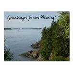 Saludos de la postal de Maine