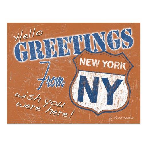 Saludos de la postal de New York City Nueva York