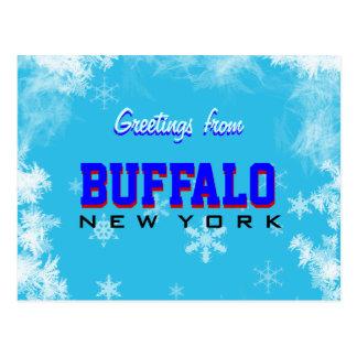Saludos de la postal de Nueva York del búfalo