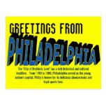 Saludos de la postal de Philadelphia