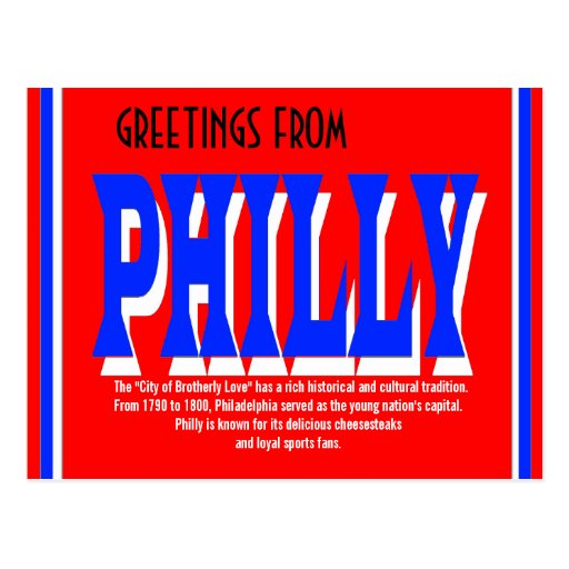 Saludos de la postal de Philly