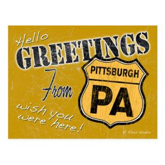 Saludos de la postal de Pittsburgh Pennsylvania