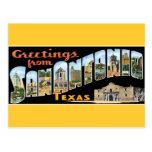 Saludos de la postal de San Antonio