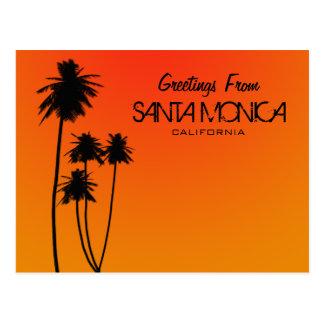 Saludos de la postal de Santa Mónica