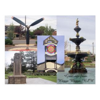 Saludos de la postal de Wagga
