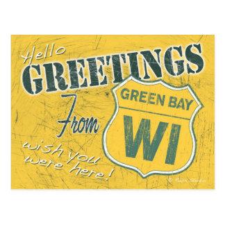 Saludos de la postal de Wisconsin del Green Bay