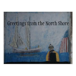 Saludos de la postal del norte de la orilla