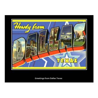 Saludos de la postal del vintage de Dallas