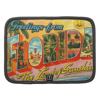 Saludos de la postal del vintage de la Florida Organizadores
