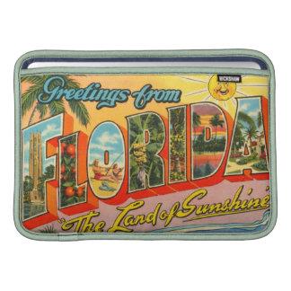 Saludos de la postal del vintage de la Florida Funda Macbook Air