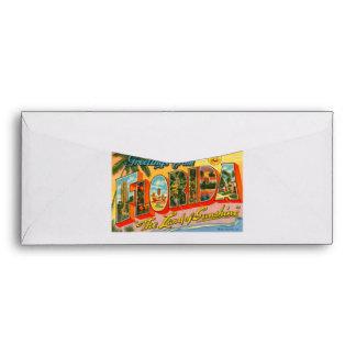Saludos de la postal del vintage de la Florida Sobres