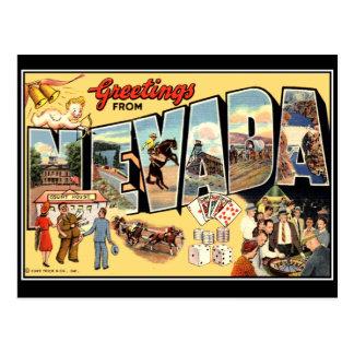 Saludos de la postal del vintage de Nevada