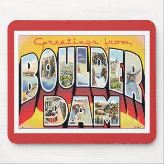 Saludos de la presa de Boulder Mouse Pad