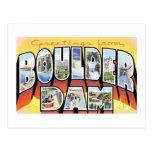 ¡Saludos de la presa de Boulder! Tarjetas Postales