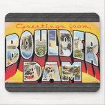 Saludos de la presa de Boulder, vintage Tapetes De Raton