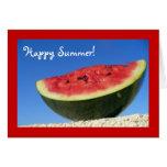 Saludos de la sandía del verano tarjeta