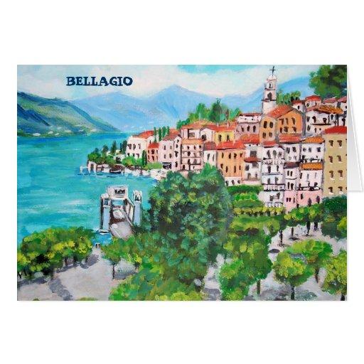Saludos de la tarjeta de Bellagio