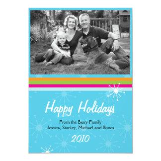 """Saludos de la tarjeta de la foto del día de fiesta invitación 5"""" x 7"""""""