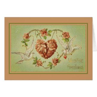 Saludos de la tarjeta del día de San Valentín