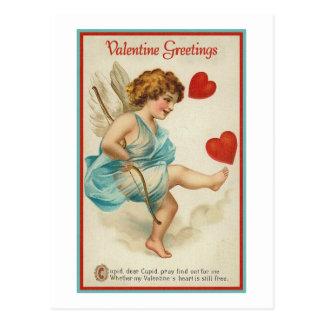 Saludos de la tarjeta del día de San Valentín Postal