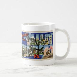 Saludos de la taza de café de la postal de la