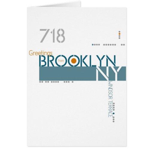 Saludos de la terraza de Windsor, Brooklyn, NY Tarjeta De Felicitación