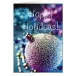 Saludos de las estaciones - decoración de Navidad Tarjeta
