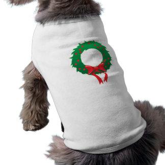 Saludos de las estaciones: Ropa de la guirnalda Playera Sin Mangas Para Perro