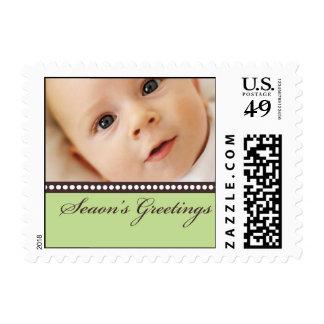 Saludos de las estaciones sello postal