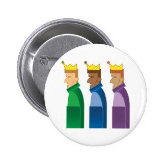 Saludos de las estaciones: Tres botones de los hom Pin Redondo De 2 Pulgadas