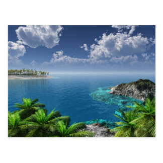 Saludos de las islas tarjetas postales