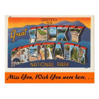 Saludos de las montañas ahumadas postal