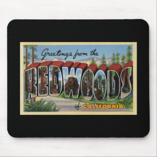 Saludos de las secoyas de California Mouse Pad