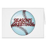 Saludos de las temporadas de béisbol felicitacion