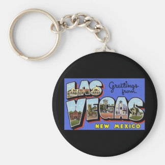 Saludos de Las Vegas New México Llavero Redondo Tipo Pin