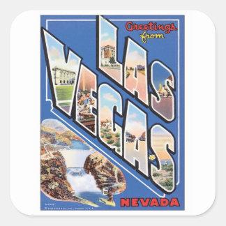 Saludos de Las Vegas Pegatina Cuadrada