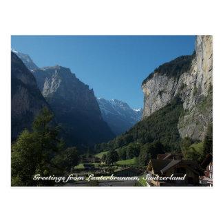 Saludos de Lauterbrunnen, Suiza 1 Postal