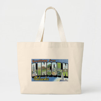 ¡Saludos de Lincoln, Nebraska! Bolsa Tela Grande