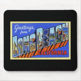 Saludos de Long Beach California Tapete De Ratones